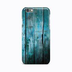 Wooden Craft Blue Hard Case Cover For Apple iPhone 4 4S 5 5S 5c SE 6 6S 7 Plus #Apple