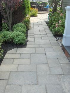 Curved Paver Walkway | steps-and-walkways-pavers-ep-henry-devon-stone-tennyson-green-slate-in ...