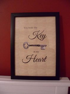 You hold the key to my heart - buy it at https://www.etsy.com/uk/shop/BrightsidesVintage