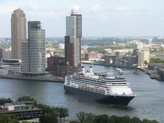 Ms Rotterdam at the port of Rotterdam - Photo by Petka.