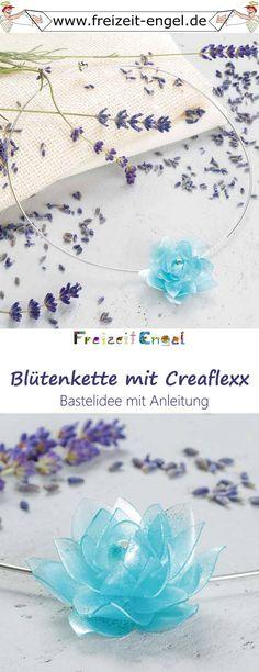 Blütenkette mit Creaflexx - Idee mit Anleitung! Eine einzelne Blüte oder ein ganzer Blütenkranz - Creaflexx ist für kreative Schmuckdesigner genau das Richtige!