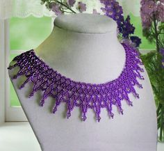 Free pattern for necklace Lilu