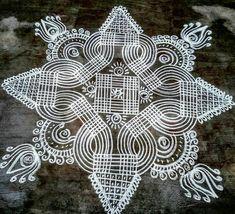 Rangoli Designs Flower, Rangoli Ideas, Rangoli Designs With Dots, Beautiful Rangoli Designs, Kolam Designs, Indian Rangoli, Kolam Rangoli, Simple Rangoli, Free Hand Rangoli Design