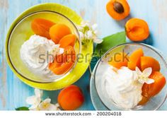 Dessert with yogurt,honey and apricot compote