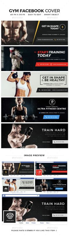 Gym & fitness Facebook Cover — Photoshop PSD #fitness and gym banner #fitness business • Available here → https://graphicriver.net/item/gym-fitness-facebook-cover/15081284?ref=pxcr