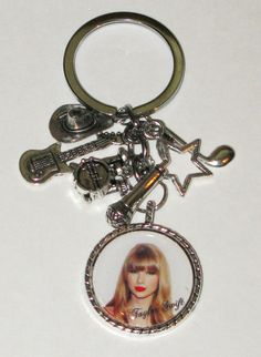Taylor Swift KeychainKey RingRed With Heavy by DixonsJewelry, $8.99