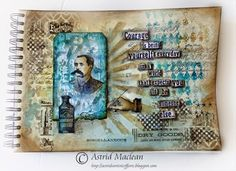Astrid's Artistic Efforts with Tim Holtz 12 Tags of 2014 - June