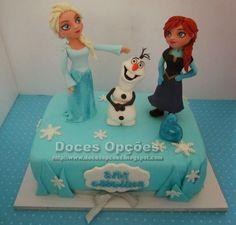 Doces Opções: Bolo de aniversário da Ana Carolina no Frozen - O ...