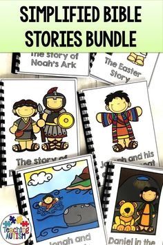These Bible Stories Have Been Simplified Into Short Stories To Make Them More Appropriate For Young Children, Especially In Preschool Or Sunday School. Daily 5 Activities, Bible Activities For Kids, Bible Stories For Kids, Hands On Activities, Literacy Activities, Communication Activities, Preschool Bible, Toddler Activities, Autism Teaching