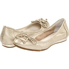 Cole Haan, Air Tali Lace Ballet in White Gold Metallic