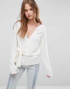 ASOS Jumper With Wrap And Tie