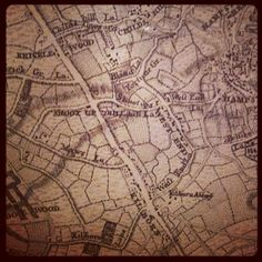 Historic map of West End and Kricklewood (via at the Museum of London) London Museums, London Life, West End, Love You, Map, Te Amo, Je T'aime, Location Map, I Love You