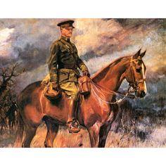 Wojciech Kossak - Equestrian Portrait of Gen. John Pershing