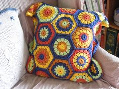 hexagon pillow-- cascade pima tencel