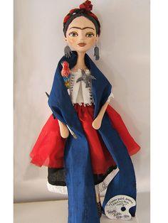Hecho a mano de Frida Kahlo Art muñecas de por BarbaraCharacters