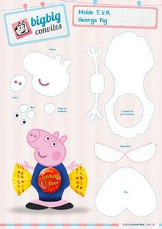 Category:E.A Archives - BigBig Convites Personalizados George Pig Party, Aniversario Peppa Pig, Cumple Peppa Pig, Finger Puppet Patterns, Boxes And Bows, Picnic Birthday, Candy Crafts, Three Little Pigs, Toy Craft