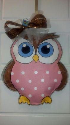 Burlap Art - Owls on Pinterest | Burlap Owl, Owl Door Hangers and ...