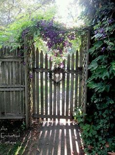 Lavender cottage gate