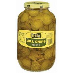 Mt. Olive Thin Dill Chips 1 gallon jar