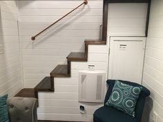 Trinity – Tiny House Swoon - Stairs at one end of the house instead of right in the middle taking up all the floor space