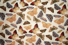 Butterfly Fabric By The Yard Susan Winget by NeedlesnPinsStichery