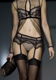 Lace on the runway.