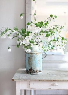 Flowers in vintage jug