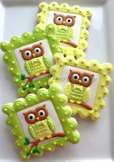 1 Dozen Owl Cookie Favors by SugaredHeartsBakery on EtsyFondant Owl Cake Topper Owl Cake birthday party girl boys kids kid chil children Owls Owl hibou gateau