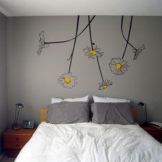 Daisy Wall Art ... cute for a little girls room   http://fab.com/kw0hna