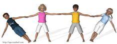 Pyramides et figures d'acrosport en 3D - *Acrosport en primaire - Quatuors école élémentaire