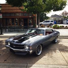 71 chevelle   #BecauseSS grey with red interior ss neek shaun lsx rushforth brushed wheels multi spoke 20x10 rears 20x8.5 fronts