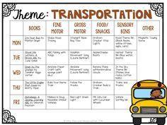 Tons of Transportation themed activities and ideas for tot school, preschool and kindergarten classrooms!