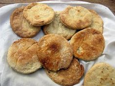 Hardtack (Ships Biscuits). The name hardtack refers to the iron hard biscuits that were stored on ships during the Tudor and later periods. They were a staple part of the diet.