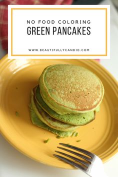 No Food Coloring Green Pancakes