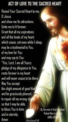 Jesus Prayer, Prayer Scriptures, Bible Prayers, Catholic Prayers, Jesus Christ, Sacred Heart Devotion, Prayer For My Children, Jesus E Maria, Miracle Prayer