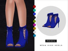 Nega high heels at Phixil Sims