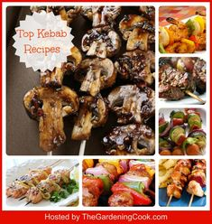 Top Kebab Recipes - use small bamboo skewers and these are perfect bite size treat for Cocktail parties.