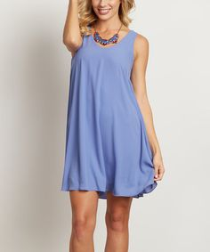 Look what I found on #zulily! Periwinkle Blue Chiffon Shift Dress #zulilyfinds