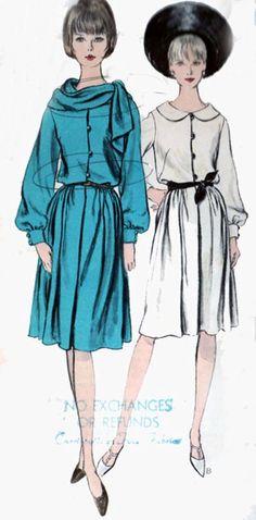 Vintage 60s Vogue 6261 MOD Shirtwaist Flared Skirt by sandritocat, $15.00