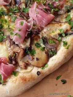 grain de sel - salzkorn: Pizza aux cèpes - Pizza mit Steinpilzen