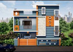 House Outer Design, House Front Wall Design, Single Floor House Design, Home Door Design, Village House Design, Home Building Design, Bungalow House Design, Modern House Design, Building Elevation