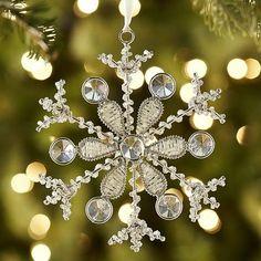 Crystal & Bead Snowflake Ornament