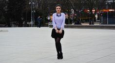 Necklace : Zara Sweater : Zara Skirt : Bershka Shoes : Feel for Fashion - Neccklace : Zara Sweater : Zara Skirt : Bershka Shoes : Feel for Fashion