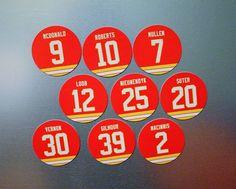 Calgary Flames Magnets Mike Vernon, Al MacInnis, Gary Roberts, McDonald Lanny Mcdonald, Vernon, Calgary, 9 And 10, Hockey, Magnets, Fan, Gifts, Favors