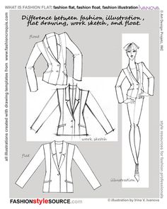 [Here's some pretty important differentiations for fashion drawings] fashion flats floats fashion illustration