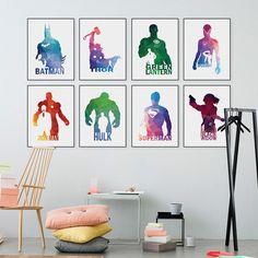 Modern Geometric Abstract Superhero Batman Pop Movie Poster Home Deco Canvas Art