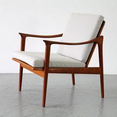 Fredrik A. Kayser; #563 Teak Armchair for Vatne Lenestolfabrikk, c1960.