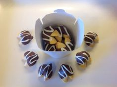 Fortune cookies, chocolate fortune cookies, hand dipped, drizzled chocolate