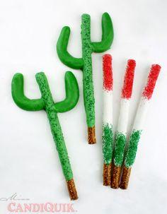 Cactus Pretzels (perfect for Cinco de Mayo) #cindodemayo