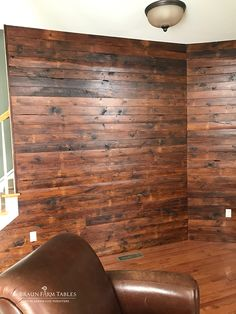 Rustic, primitive reclaimed barn wood was used to create these shiplap accent walls - www.braunfarmtables.com Reclaimed Barn Wood, Accent Walls, Living Room Designs, Primitive, Hardwood Floors, Design Ideas, Cozy, Rustic, Create